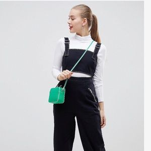 Asos Design overall with cutout & contrast stitch